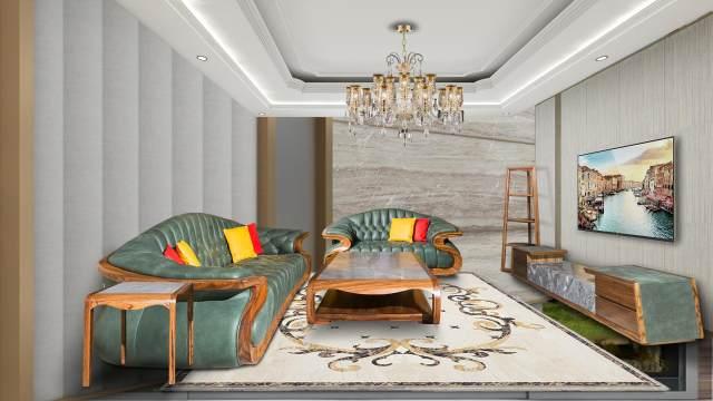 鹰星大户型室内软装设计案例