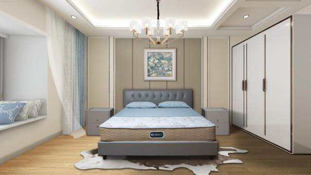太仓席梦思卧室设计效果图
